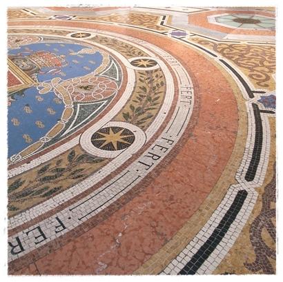 Mosaic cow Milan