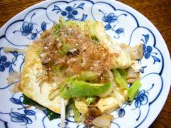 ネギと豆腐のチャンプルー