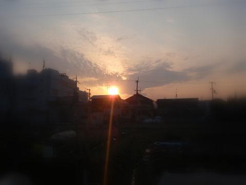 5日ぶりの夕陽