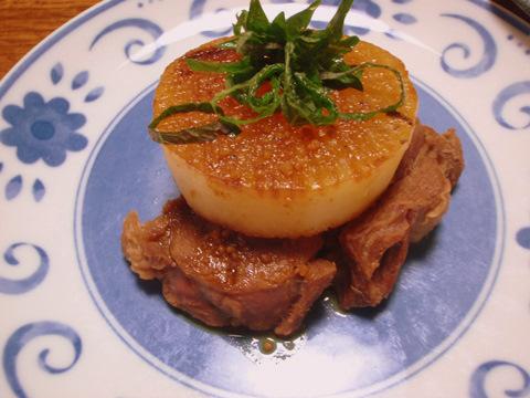しし肉と大根のステーキ