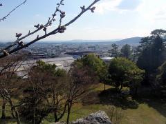 城壁の端っこから上野の町を