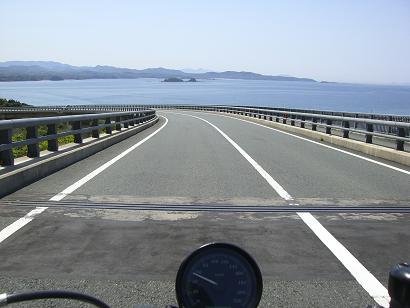 10:54角島大橋を島から