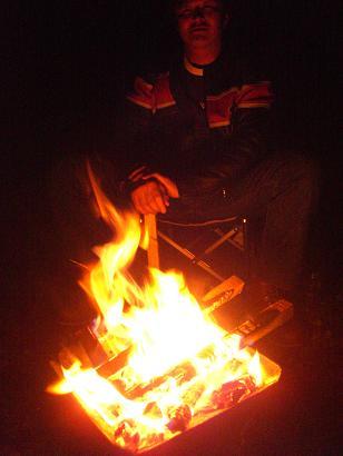 21:37焚き火