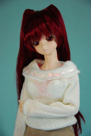 セーター姿のたま姉