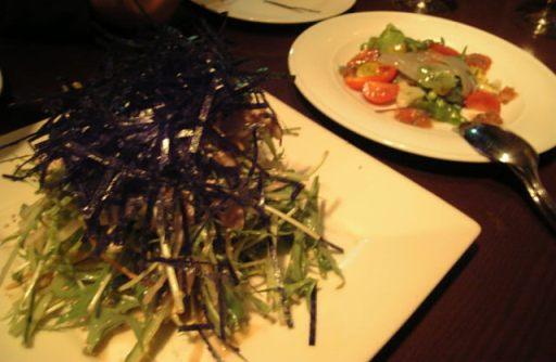 水菜とササミとサラダ
