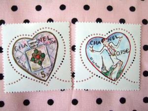 フランスシャネルバレンタイン切手