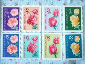 ブルガリアのバラ切手