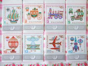 ブルガリアの乗り物切手