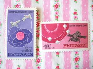 ブルガリアのロケット切手