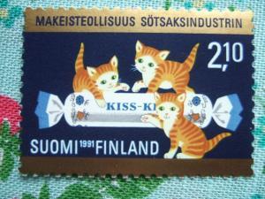 フィンランド キャンディ産業切手