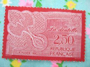 フランスのレース切手