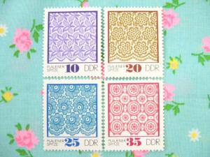 1966年DDRブラウエンレース切手