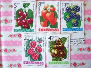 ブルガリアのフルーツ切手
