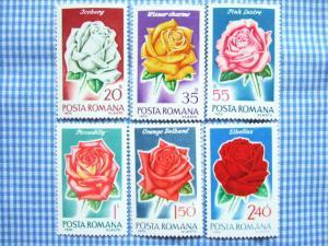 ルーマニアのバラ切手