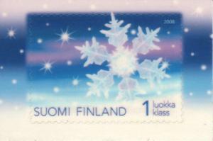フィンランド雪の結晶切手