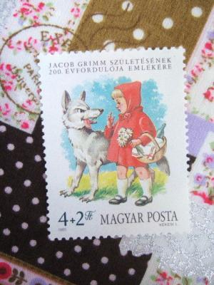 ハンガリー赤ずきんちゃん切手