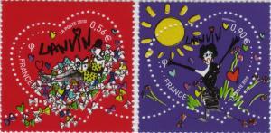 ランバンのバレンタイン切手