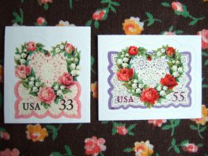 アメリカのバレンタイン切手