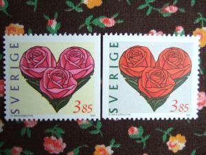 スウェーデンのバレンタイン切手