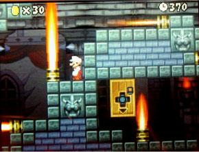 スーパーマリオ 最後の城の中で方向音痴で立ち尽くす。