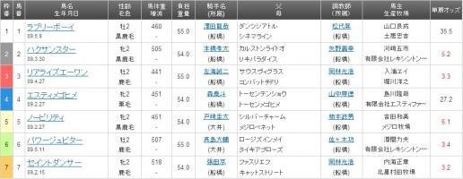 船橋競馬 JRA認定1R 5番 ノービリティ