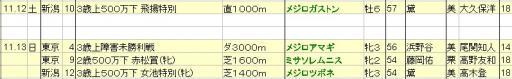 2011111213JRA出走予定