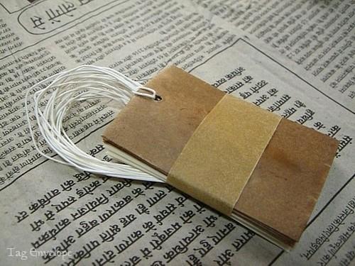 タグ型ミニ封筒