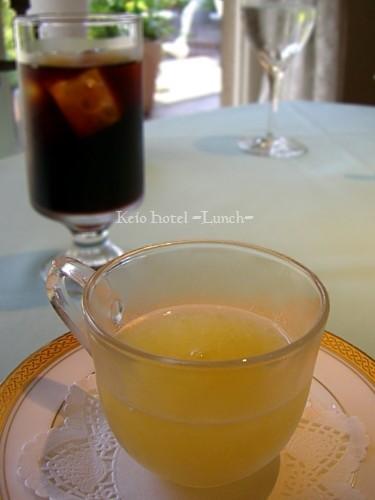 パイナップルジュレ・アイスコーヒー