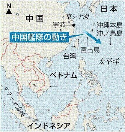 中国艦隊の動き