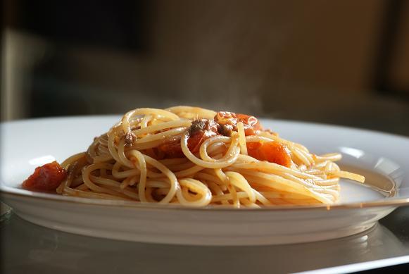 spaghettini con ciliegio e acciughe_2011