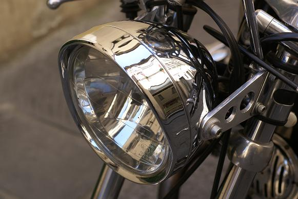 crome headlight