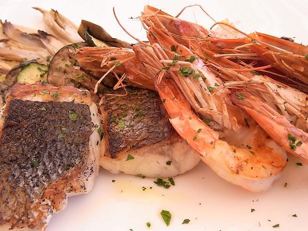 griglia mista di pesce