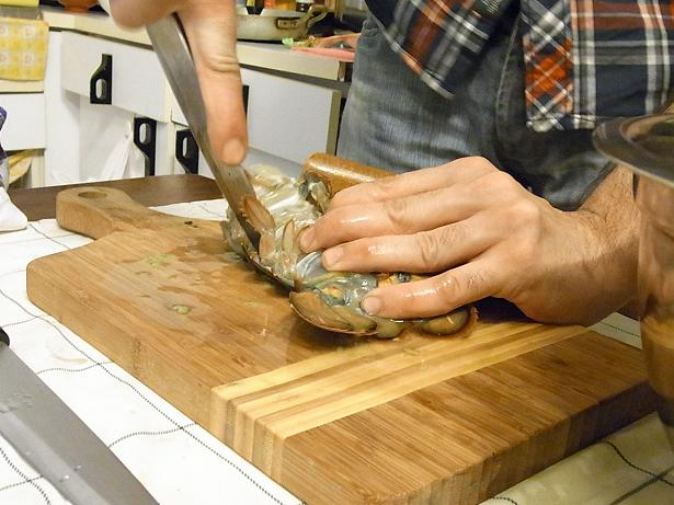 peeling off shell