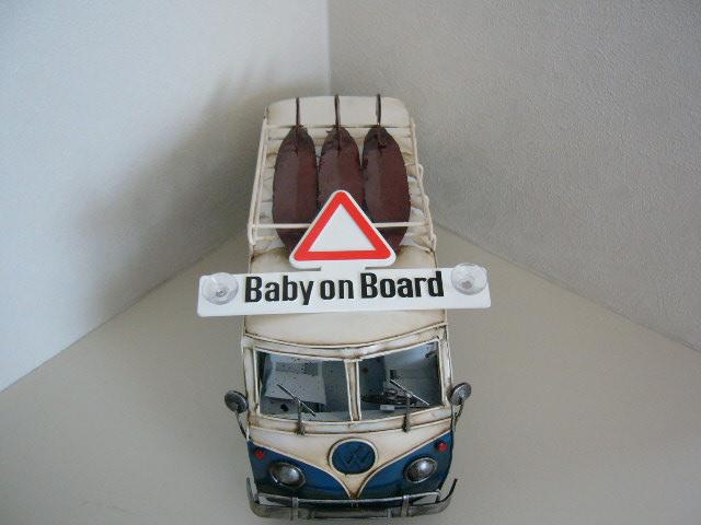 サーフバスに赤ちゃんが乗ってます