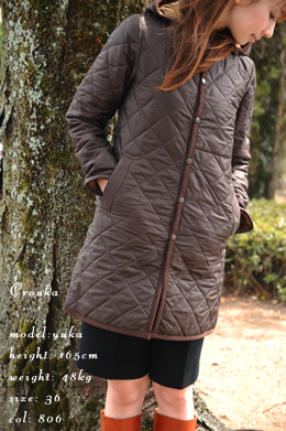 detachable hood regular coller quilting coat