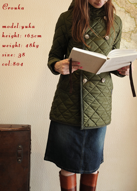 hooded quilting w-p coat
