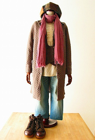 small-COTTON QUILT SHIRTS COLLAR COAT