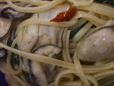 牡蠣ペペロンUP