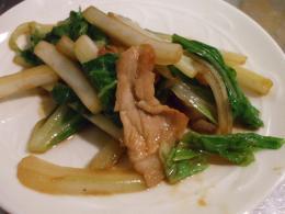 白菜と豚のミソ炒め2