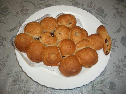 ブドウな形のブドウパン