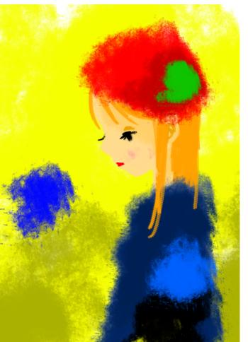 赤いベレー帽の子2
