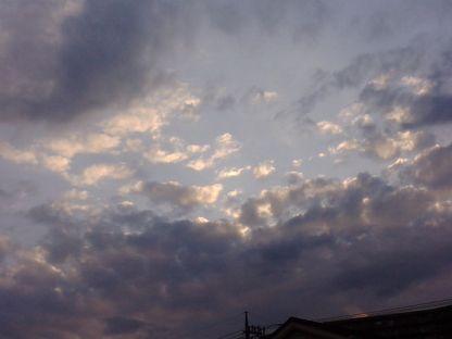 先週の夕方の空 2