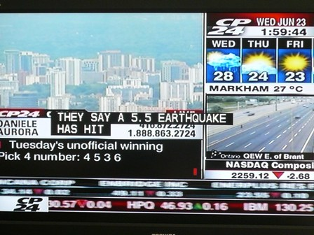 Unexpected Earthquake news2