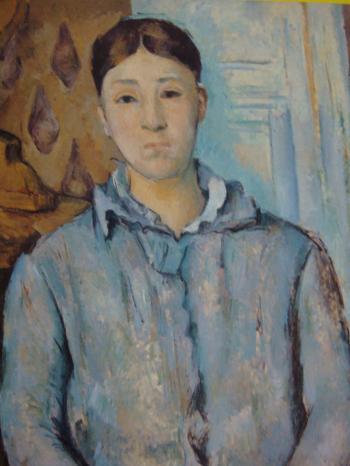 青い衣装のセザンヌ婦人