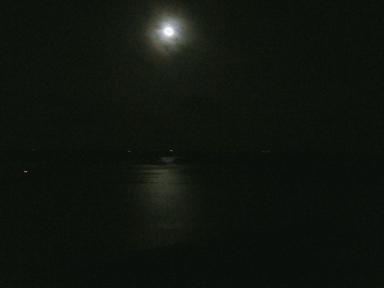 英虞湾と月