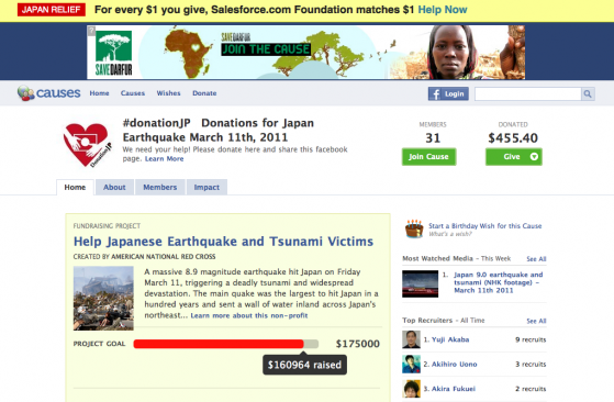 #donationJP Donations for Japan Earthquake March 11th, 2011