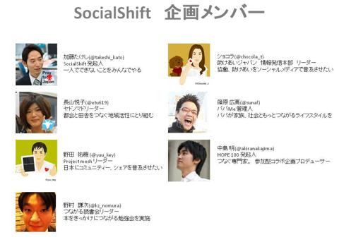 ソーシャルシフト企画メンバー