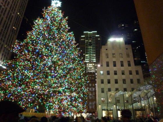 ロックフェラーセンターのクリスマスツリー!