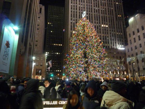 ロックフェラーセンターのクリスマスツリー☆