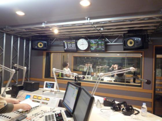 InterFMの収録スタジオ